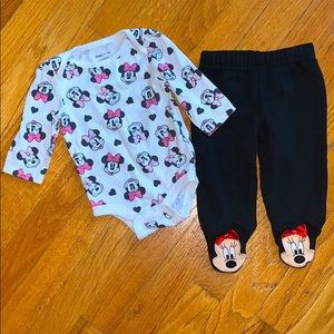 — Disney Baby — Minnie Mouse Baby Girl Outfit